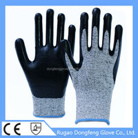 China Maufacture HPPE Cut Resistant Nitrile Coated Fisheries Work Gloves For Hot Sale