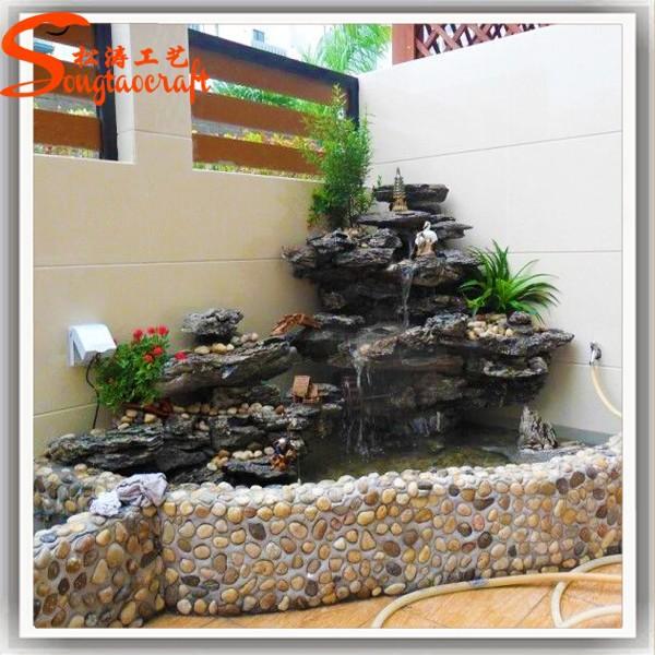 The Hotel Decorative Water Fountains Fiberglass Sculpture
