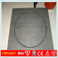 EN124 B125 medium duty internal composite round manhole covers Cable Protection