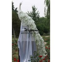 WFOUND Creative new peacock silk flowers wedding festival decoration