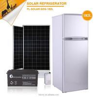High quality low energy consumption 182L solar power hotel deep freezer refrigerator