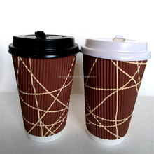 14OZ LOGO Printed Paper Cups Single/Double/Ripple Wall for Coffee/Ice cream