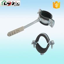 rubber galvanized steel round metal clamp