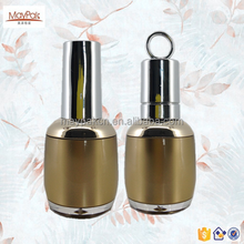 2015 wholesale custom clear round plastic with UV caps nail polish bottle