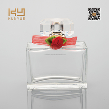 50ml small perfume bottle with red flower decorated