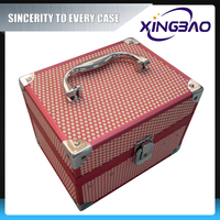 Extendable good cosmetic case,print fancy cosmetic case,PVC panel aluminum cosmetic case