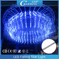 Madrix controlled vertical 3D led stage light meteor raining LED falling star lights