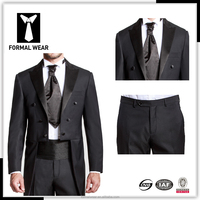 Mens swallow tail coat dress suit made in Shanghai