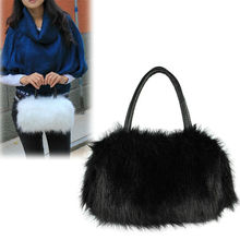 ladies handbags autumn winter mini bag with fur plush