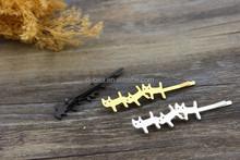 Black Silver Gold Tone Fancy Kitty /Cat Hair Bobby Pins-Bobby Perno