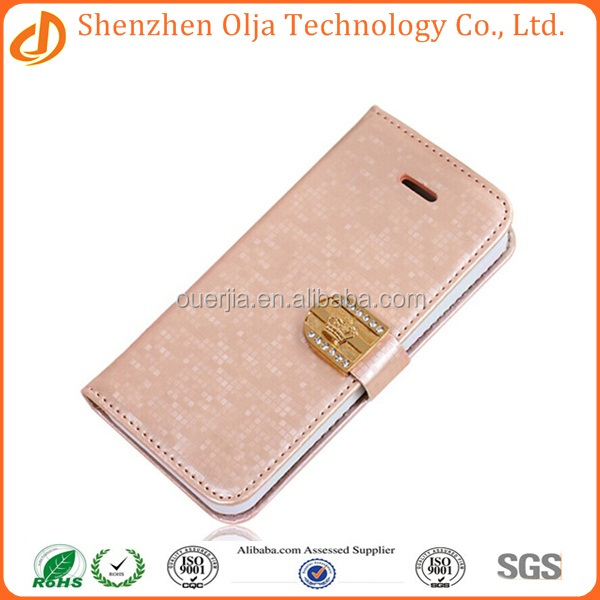 Wholesale manufacture leather flip case cover for apple iphone 6 plus, leather belt clip flip wallet case for iphone 6 plus