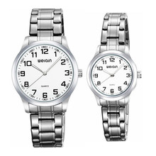 weiqin w00123 simple arabic numerals index water resistant his and hers watch gift set