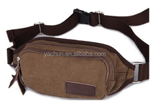 Canvas man bag waist pack male casual small waist bag outside sport chest pack Fanny Pack Hiking Climbing Bumbag