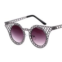 2014 korean estrella de metal marca de diseño de la mujer gafas de sol de gato