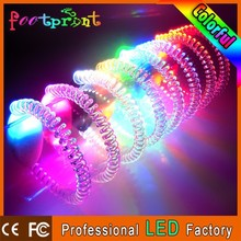 silicone slap bracelet led plastic headband