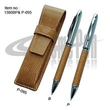 Ballpoint Pen and mechanical pencil Set PU leather Pouch Packing Gifts Pen Set Stationery for Business Gifts