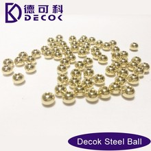 Real Gold Plating Finish 8mm Stainless Steel Ball With Drill Hole Plating Balls