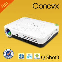 Concox Q shot3 digital hd projector full hd 1080p enjoy the best vision effect with 3D glasses mini portable led projector