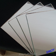 2mm - 6mm Float Glass Aluminum Mirror / Aluminium Mirror, from magnetron sputtering vacuum coating line, max size 2440 x 3660mm