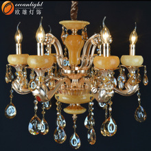 colored glass chandeliers,natural bamboo pendant lampOMCO16-6