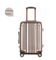 """25"""" Titanium Golden Best Trolley Luggage Suitcase , Aluminum Baggage"""