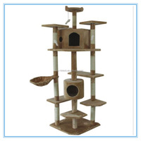"""High Quality Cat Tree 80"""" Condo Furniture Scratching Indoor House"""