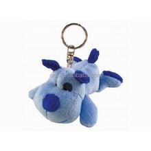 Small size mini size cute stuffed plush dog keychain toy