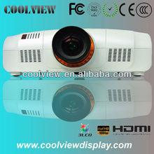 DVI 1080P best qualtiy full HD 1920*1200 pixels 10000 lumens 1920*1200 3LCD digital 3d theater projector