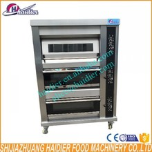 220V 3 deck 9 trays bakery deck oven bread industrial ovens for baking