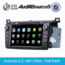 toyota used car spare parts support canbus with Gps TV 3G USB TMC Canbus Mp3 Aux-in Rca-out android4.4.4 system