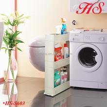 Folding bath kitchen laundry room storage organizer removable plastic shelf