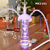clear glass wholesale hookah with led