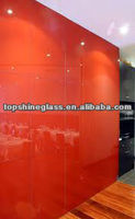 red painted glass curtain wall