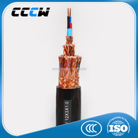 copper wire braid over all shield PVC insulated PVC sheath computer control cable with low voltage