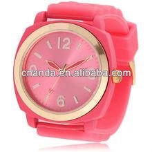 popular de silicona de cuarzo damas 2015 movt relojes de nuevo