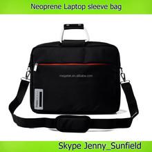 14 15 inch neoprene laptop sleeve laptop bag with aluminum handle