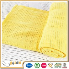 Walmart in Cooperation Various Designs Cotton Cellular Baby Blankets