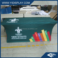 High quality square polyester blue glitter table cloth