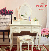 Updated low price lady wood dressing table with mirror