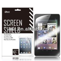 For Asus / Google nexus 7 screen protector oem/odm (Anti-Fingerprint)