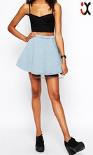 2015 wholesale newest denim fabric A-line women skirt jeans JXH003