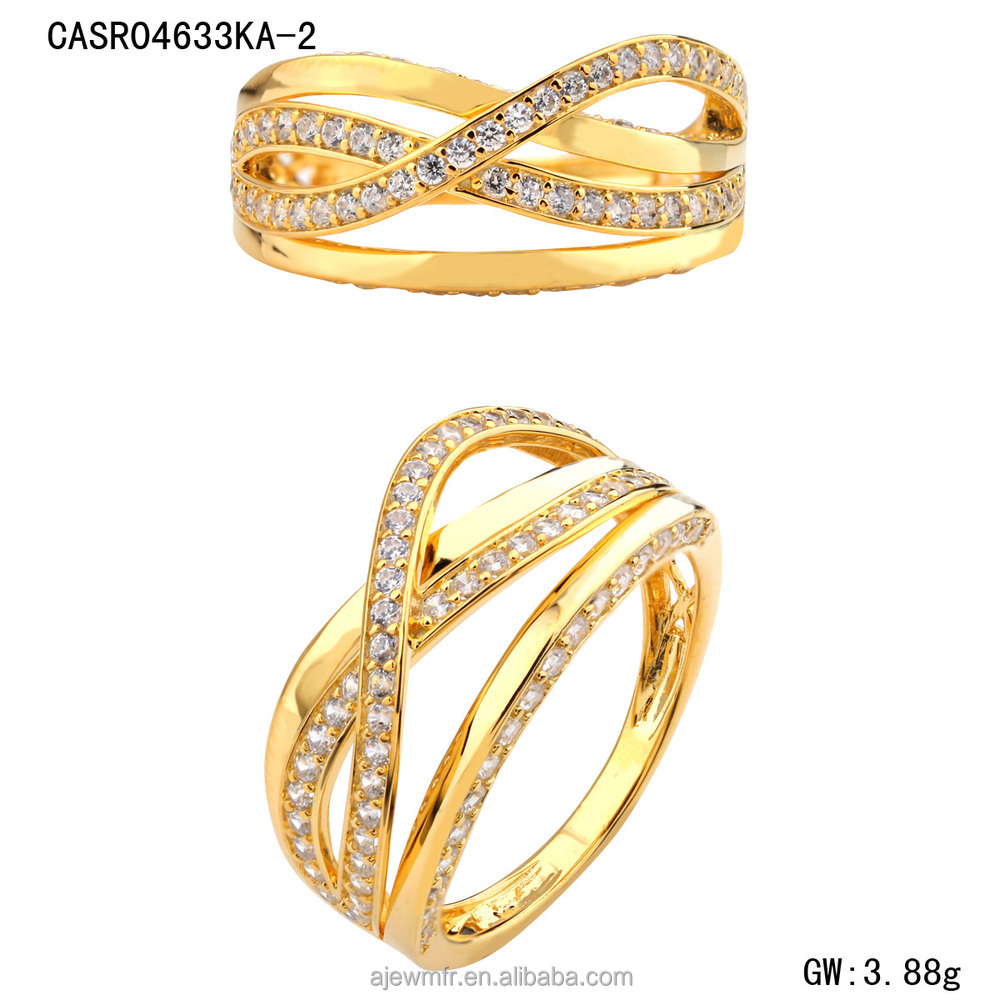 Dubai Design K Gold Engagement Rings For Girls Wholesale Price Buy ...