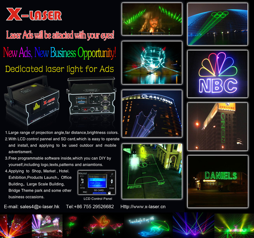 3w Rgb Laser Christmas Lights Outdoor,Effect Sky Laser Light With ...
