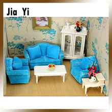 1 12 scale of doll house furniture drawing room blue cloth sofa sets