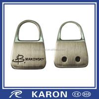 promotional lock shape name tag key chain