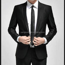 Top Black 2pcs men's Slim fit suit