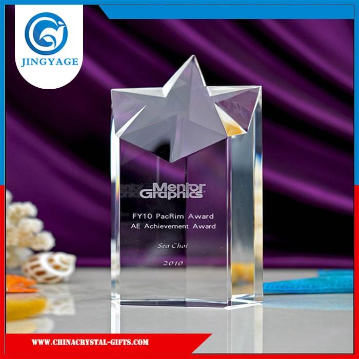 Professional OEM Personalizado gravado troféu e prêmio de cristal, moda troféu de cristal souvenir, copos do troféu de cristal óptico