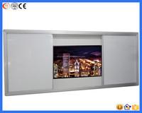 2015 China best sellers aluminum frame magnetic wall vertical sliding white board