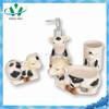 Fashionable Dogs Ceramic Bathroom Accessories Set