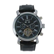 Jargar Men Gent Black Tourbillon Date Classic Mechanical Watch WM179